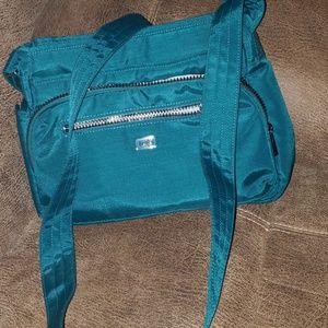 Lug blue green shoulder or crossbody